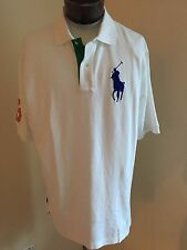 NWT Men's Big & Tall Polo Ralph Lauren SS Classic Polo Shirt White 3 XLarge Tall