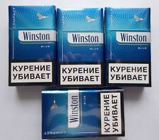 4  Pcs Winston compact Blue  20 Filter Cigarettes collection .