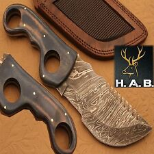 HAND MADE CUSTOM BUSH CRAFT COMBAT TRACKER CAMPING  KNIFE {QN-356}
