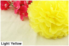 14Inch Light Yellow Tissue Paper Pom Poms Flower Ball For Wedding Birthday Party