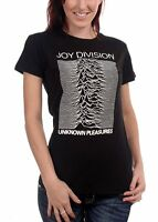 Official Joy Division - Unknown Pleasures - Women's Black Fitted T-Shirt