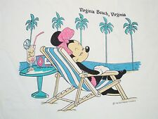 Vintage Minnie Mouse Virginia Beach Poolside Walt Disney World Vaca T Shirt 2XL