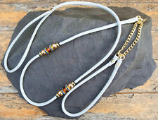 Beaded Dog Show Lead  all in one - Soft Nappa Leather