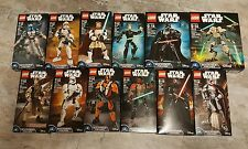 Lego Star Wars Lot Buildable Figures Darth Vader Storm Trooper Jango Luke NEW