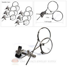 (6) Double Lens Loopy Loupe 15X Power Magnifers Magnifying Glass Clip On Glasses