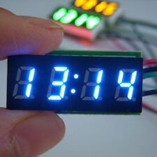 "0.30"" LED Electronic Digital Car Motorcycle Clock Watch bue LED DC 12V/24V"