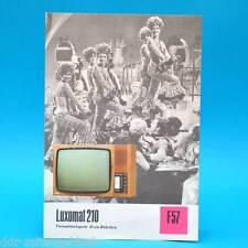 Fernsehtischgerät Luxomat 210 DDR 1974 61-Röhre | Prospekt Werbung DEWAG F57 J