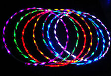 24 lights Colorful lights Colorful 90CM light flash LED hula hoop fitness