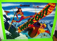 WIPE OUT GOTTLIEB 1993 ORIG. NOS PINBALL MACHINE TRANSLITE SNOWBOARDING SKIING