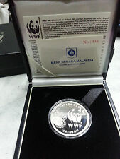 Malaysia WWF Silver Proof coin 2011