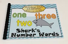 Interactive Learning Books for Children - Number Words - w/ 33 Laminated Cards
