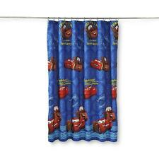 Disney Pixar Cars Lightning McQueen Tow Mater Shower Curtain 72x72 in