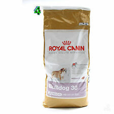 ROYAL CANIN BULLDOG INGLESE JUNIOR 30 12 KG CANE DOG CROCCHETTE SACCO .