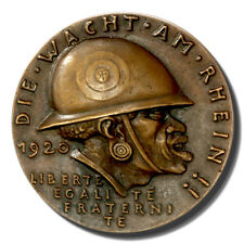 1920 Karl Goetz Bronze Medal titled Watch on the Rhine, K-262, in uncirculated c