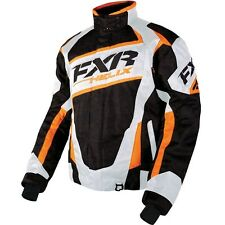 FXR HELIX SNOWMOBILE JACKET DIGITAL BLACK/WHITE/ORANGE SIZE: 3XL 16011.31022
