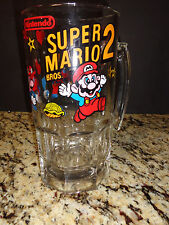 Super Mario 2 Heavy Glass Mug Beer Stein 8""