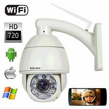 HOT H.264 WIFI Sricam AP004 720P 5x Zoom Pan Tilt PTZ IP CCTV Camera Outdoor IR