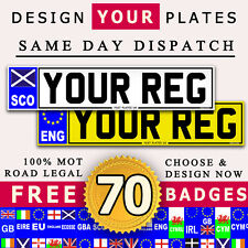 PAIR QUALITY CAR NUMBER PLATES AND SHOW PLATES 100% ROAD LEGAL MOT COMPLIANT