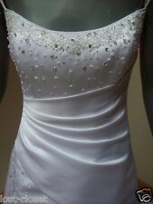 Maggie Sottero White Spaghetti Strap Corset Wedding Dress Bridal Size 8 10 12