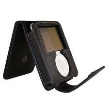 New Luxury Leather Black Flip Protective Skin Cover Case iPod Nano 3G by Exspect