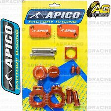 Apico Bling Pack Orange Blocks Caps Plugs Nuts Clamp Cover For KTM SX/F 450 2013