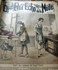 VTG 1910s PARIS FASHION & SEWING PATTERN MAGAZINE LE PETIT ECHO de la MODE 1918
