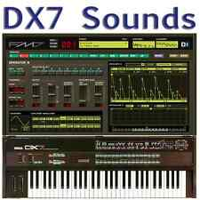 Yamaha DX7 DX5 DX7II DX200 TX7 TX802 TX816 + FM7 FM8 Largest Sound Collection