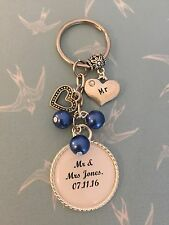 Wedding MR Keyring Keepsake Favour Gift ANY WORDING ANY COLOURS