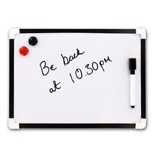 A4 Dry Wipe Magnetic Whiteboard Mini Office Notice Memo White Board UK SALE