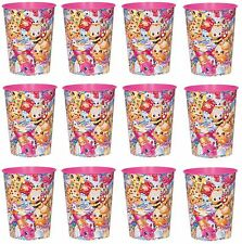 Shopkins Kooky Cookie REUSABLE KEEPSAKE CUPS 12x Birthday Party Supplies Plastic