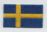 Embroidered SWEDEN Flag Iron on Sew on Patch Badge HIGH QUALITY APPLIQUE