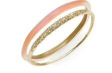 Alexis Bittar Tapered Stack Lucite & Swarovski Crystal Bangles Fluorescent Melon