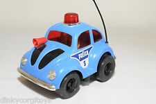 LUCKY PLASTIC 3138 VW VOLKSWAGEN BEETLE KAFER POLICE BLUE EXCELLENT CONDITION