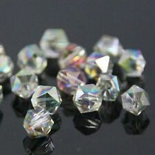 12 Pieces Swarovski  6mm split facet Crystal beads A Rose Green