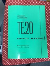 MASSEY FERGUSON TRACTOR TE20 PETROL & DIESEL WORKSHOP MANUAL REPAIR INSTRUCTION