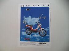 advertising Pubblicità 1989 ATALA MASTER LF 50