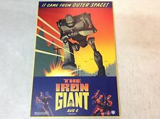The Iron Giant Movie Poster  Hardback Print On Particle Board Warner Bros. Art