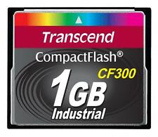 1GB Transcend CF 300X Speed SLC Industrial CompactFlash Memory Card