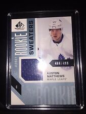 2016-17 UD SP GAME USED ROOKIE SWEATERS AUSTON MATTHEWS RC JERSEY 400/499