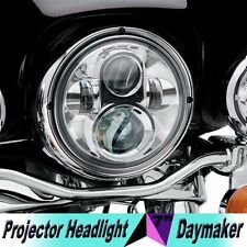 "7"" LED Chrome Projector Daymaker Headlight For Harley Street Glide FLHX"