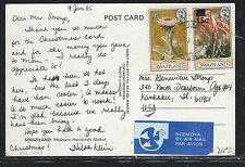 SWAZILAND (P1101B)  1985 REVALUED+ ORIGINAL VALUE ON PPC TO USA  NICE MIXED VALU