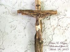 Artist Arturo E.Reyna ~CHRIST~ MIRACLE OF NATURE WEATHERED WOOD WALL CRUCIFIX
