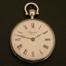 Chopard Geneve SWISS Authentic Antique Vintage Silver 0.800 Working Pocket Watch