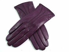 New Ladies Womens Premium Quality Real Super Soft Leather Gloves Fur Lined Warm