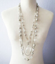 Lia Sophia Jewelry Michael Glass and Resin Beads Detachable Necklace RV$130