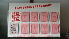 PLAY YOUR CARDS RIGHT HIGHER LOWER GAME BOARD WITH EXTRA LARGE A4 PLAYING CARDS