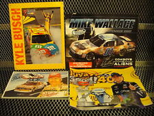NASCAR Signed Pictures ~ LOT of 4 ~ Kyle Busch ~ Hamlin ~ Bobby Allison ~Wallace