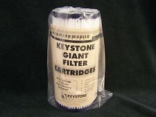 KEYSTONE GIANT G08P10010D Pleated 10 X 4.5 Poly 10 Micron Sediment WATER FILTER
