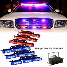 54 LED Emergency Car Vehicle Strobe Flash Lights Bars Warning Red/Blue