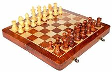 Stonkraft Collectible Folding Wooden Chess Game Board Set with Magnetic Crafted